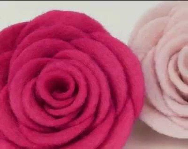 Rosa com feltro, um lindo trabalho para você aprender, confira!