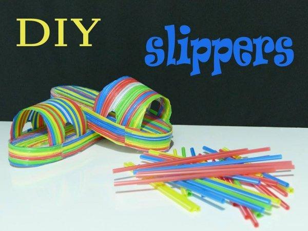 Sandálias feitas com canudos, um artesanato incrível, confira!