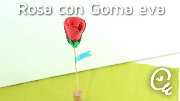 Tutorial de rosa de EVA perfeita para lembrancinha de aniversário!!!