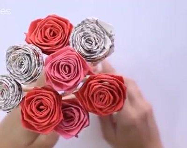 Várias formas de fazer rosas com papel, você vai amar todas elas!