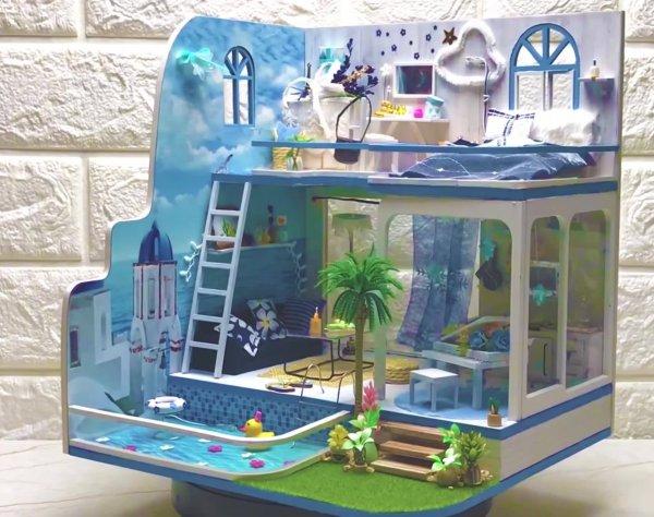 Vídeo mostrando construção de casinha em miniatura, você vai se encantar!!!