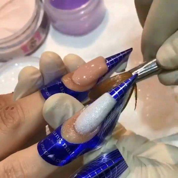 Aplicação de unhas em acrigel, veja como são perfeitas, impossível não gostar!!!