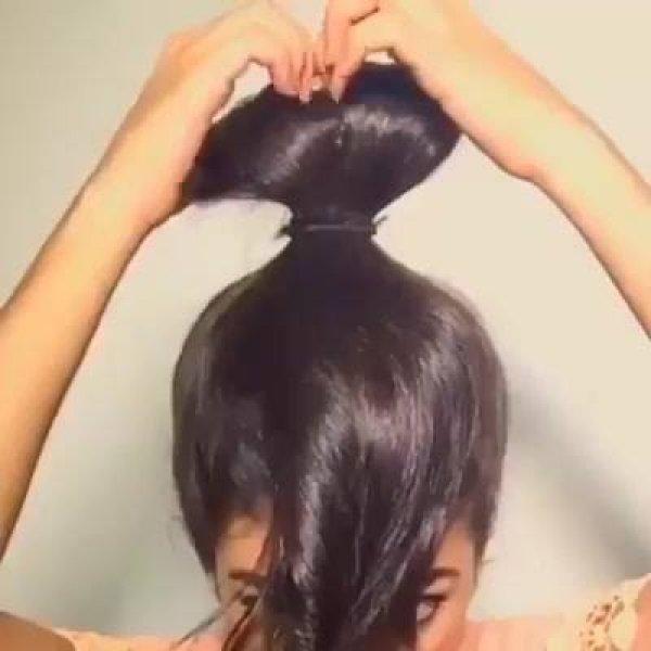 Aprenda a fazer um laço com seu próprio cabelo, fica lindo e diferente!