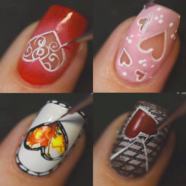 Decorações de unhas para o Dia dos Namorados, veja que lindas!!!
