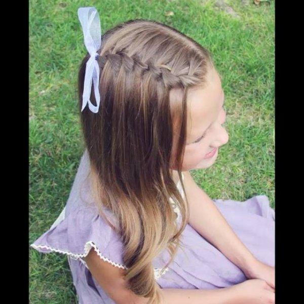 Ideia de penteado infantil, sua filha vai amar o resultado, confira!