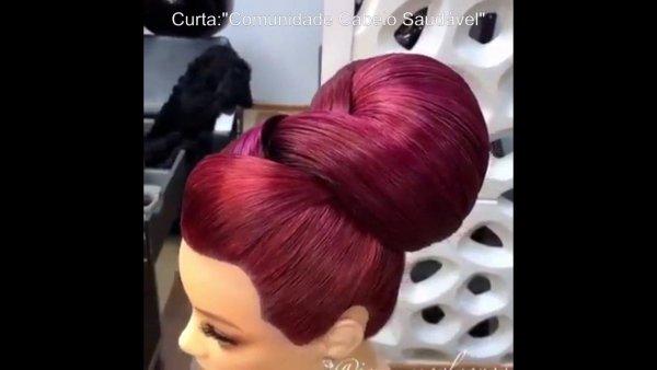 Inspiração de penteado maravilhoso para você fazer em suas clientes!!!