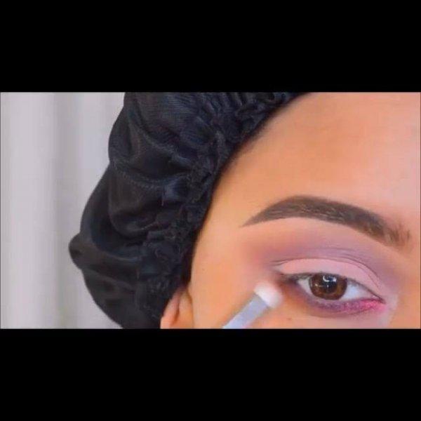 Inspiração de sombra para os olhos na cor rasa claro, e esfumado lilás!!!