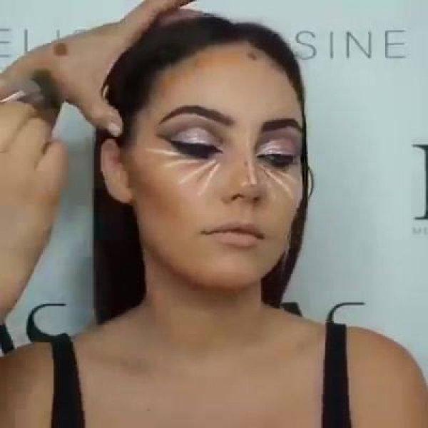 Maquiagem com batom maravilhoso, toda mulher ama essa cor!