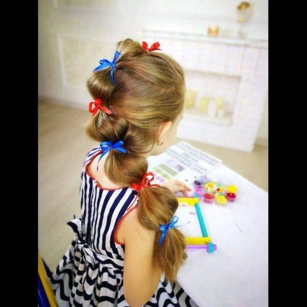 Penteado fácil para meninas, com certeza as mamães vão se encantar!!!