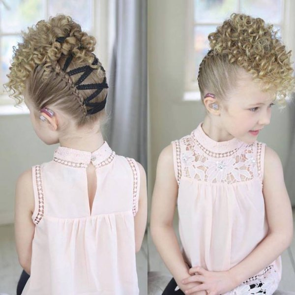 Penteado infantil - Uma ideia bem diferente e linda, confira!