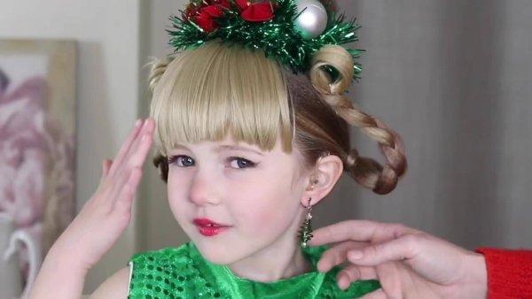 Penteado natalino divertido para garotinhas, veja que charme!!!