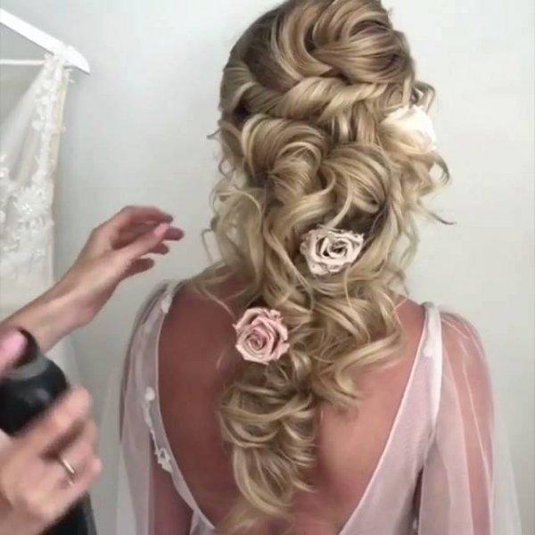 Penteado para noivas que vão se casar no campo, olha só que lindo!!!