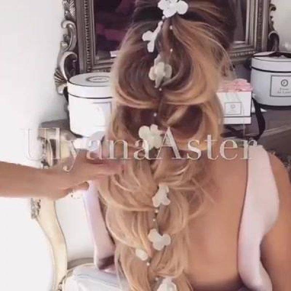 Penteado para noivas que vão se casar no campo, veja que lindo!!!