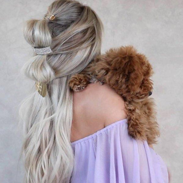 Penteado simples e diferente, veja como ficou lindo esse cabelo!