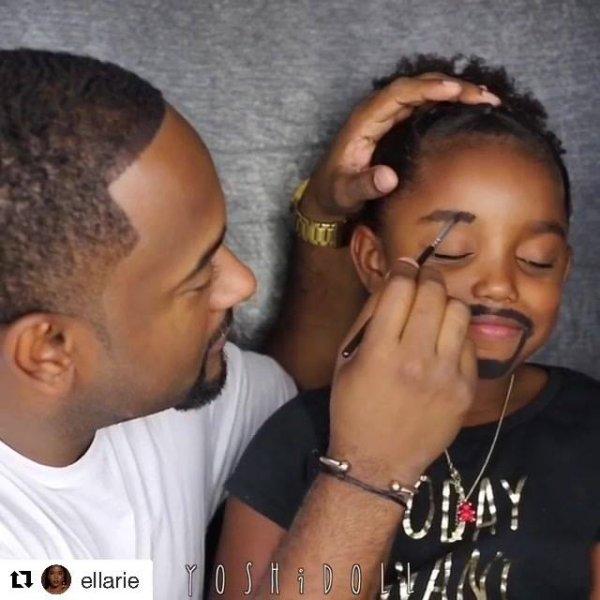 Transformando a filha na cara do papai hahaha, não é que ficou igual mesmo?