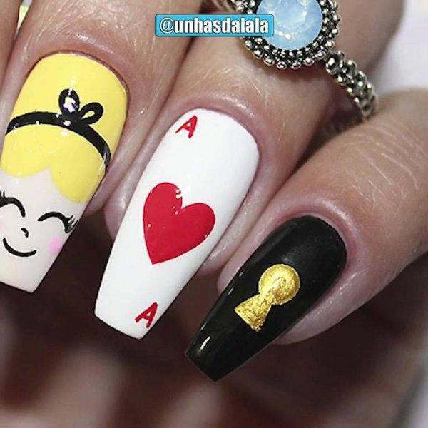 Tutorial de unhas decoradas com tema Alice no Pais das Maravilhas!!!