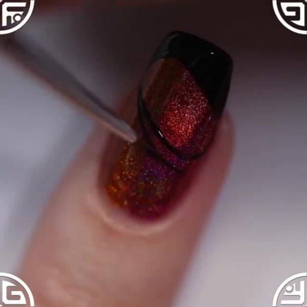 Unha com esmaltes holográfico, olha só que cor maravilhosa!!!