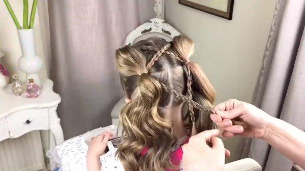 Vídeo com tutorial de penteados para garotinhas, as mamães vão gostar!!!