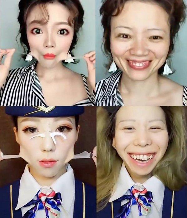 Vídeo mostrando mulheres retirando a maquiagem, é incrível a diferença!!!