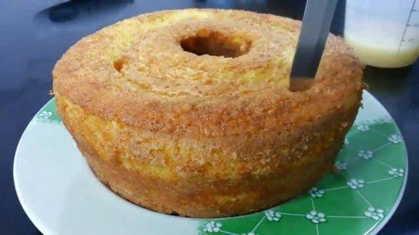 A receita mais fácil de fazer bolo de laranja, fica super macio e gostoso!
