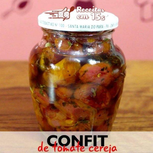 Como é feito Confit de Tomate Cereja? Veja no video a seguir!