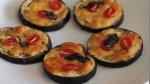 Mini pizza de berinjela, uma alternativa para quem está de dieta!