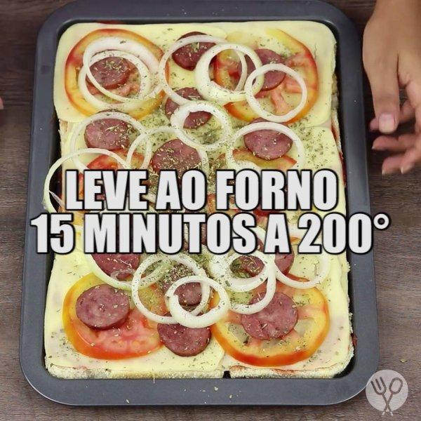 Pizza de Pão de Forma - Uma ideia bem fácil de fazer, confira!