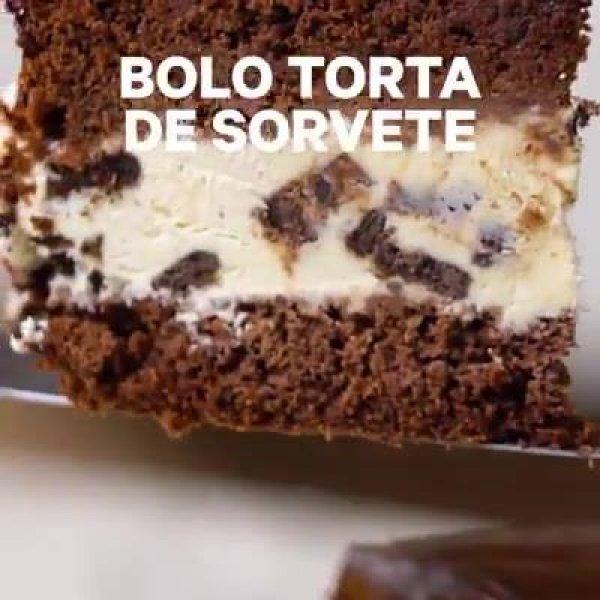 Receita Bolo Torta de Sorvete, uma sobremesa deliciosa que ainda refresca!
