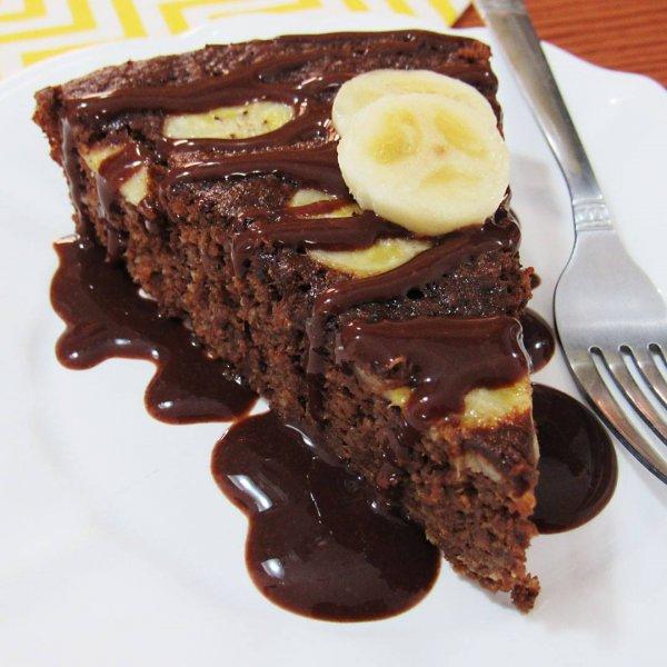 Receita de bolo de chocolate com banana, uma combinação perfeita!!!