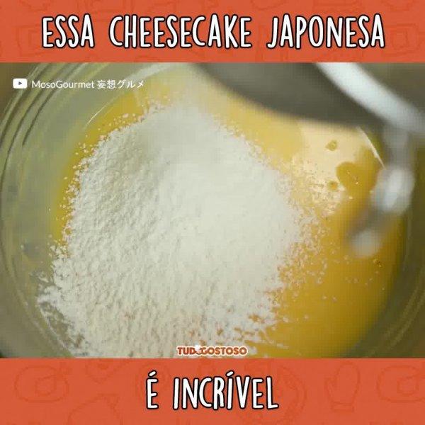 Receita de Cheesecake Japonesa, uma maravilha que você vai amar!