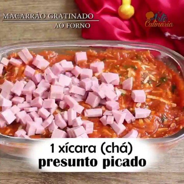 Receita de Macarrão Gratinado, uma ideia perfeita para seus almoços de domingos!