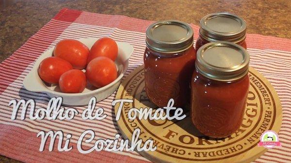 Receita de Molho de Tomate Caseiro, fica maravilhoso e muito mais saudável!