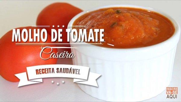 Receita de molho de tomate caseiro, fica muito mais gostoso!