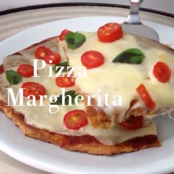 Receita de Pizza com massa de batata doce, fica saudável e uma delicia!