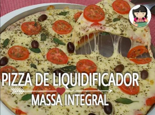 Receita de pizza de liquidificador, para quem procura um prato rápido!