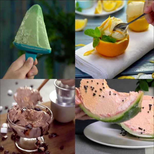 Receitas maravilhosas de sorvetes diferentes, todos ficam uma delicia!