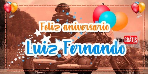 Vídeo com mensagem de Aniversário para Luiz Fernando, parabéns pelo seu dia!!!